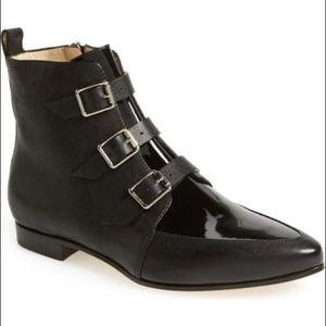 Authentic Jimmy Choo 'Marlin' Leather Ankle Bootie